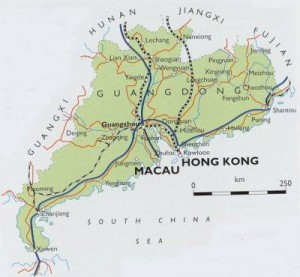 Карта провинции Гуандун